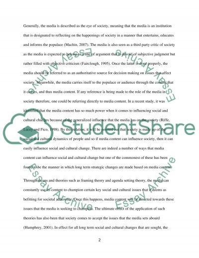 Analysing Media Output essay example