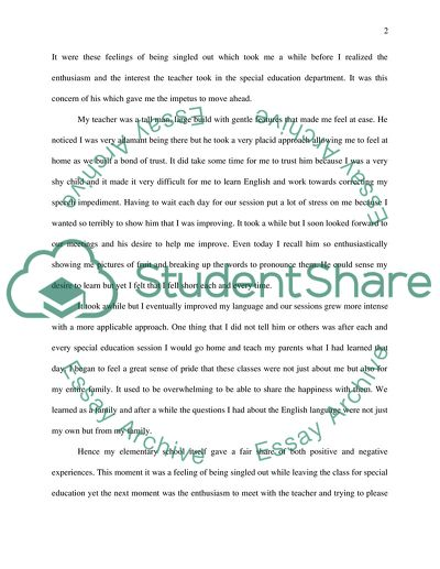 Reflecting on Education Essay Example