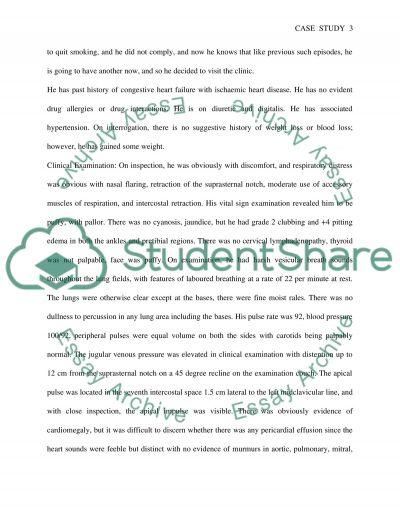 Clinical Examination essay example