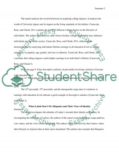 Read article and answer essay questions