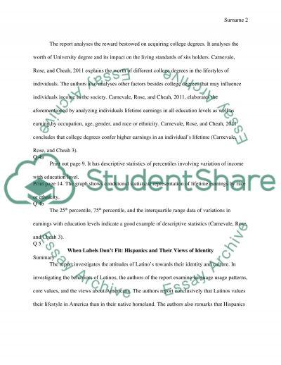 Economics article summary essay