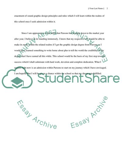 Artist Statement application essay from parsons
