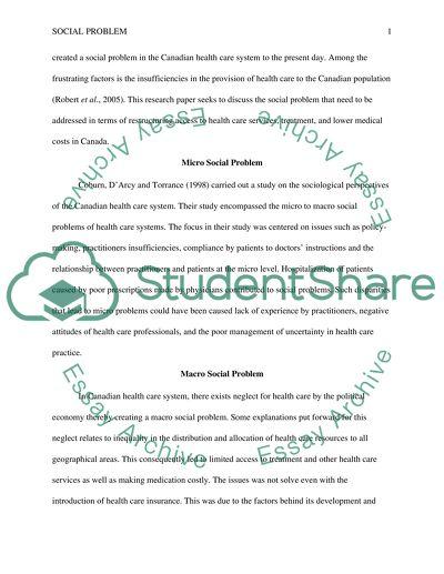 Essay on social issue