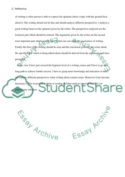 English paper essay example