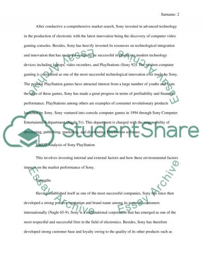 STRATEGIC AUDIT OF A CORPORATION essay example