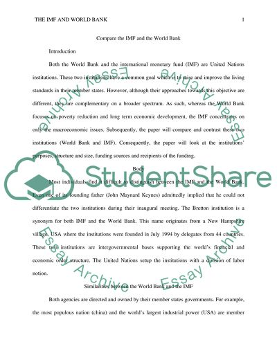 Descriptive Essay Topics For High School Students Compare The Imf And The World Bank  Essay Example Science And Technology Essay Topics also Thesis Statement Essays Compare The Imf And The World Bank Essay Example  Topics And Well  Essay On Cow In English