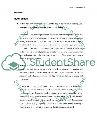 Macroeconomics (Economics in general) essay example