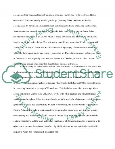 Asian Culture On Music essay example