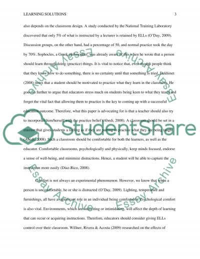 Learning Solutions essay example