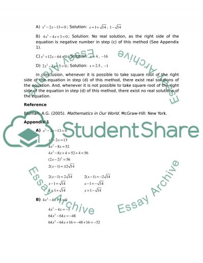 Quadratic Equations and Prime Numbers essay example