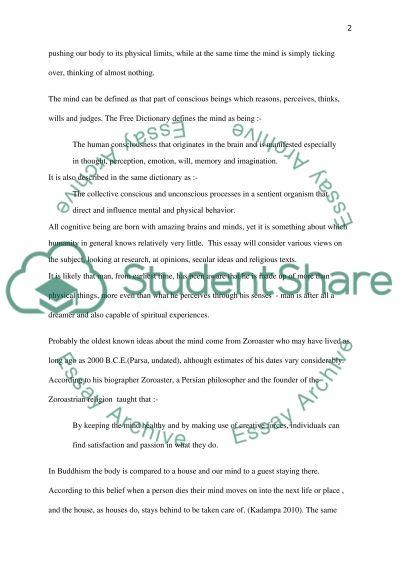 Intro to Philosophy essay example