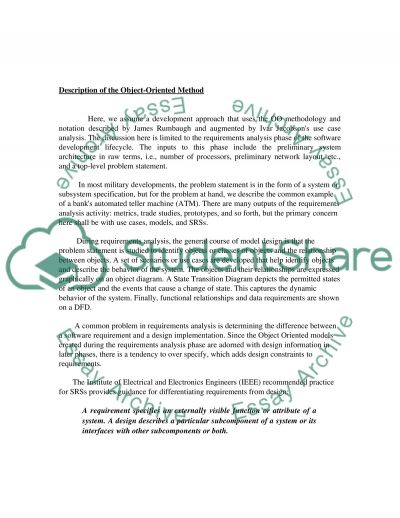 Software Engineering Methods essay example