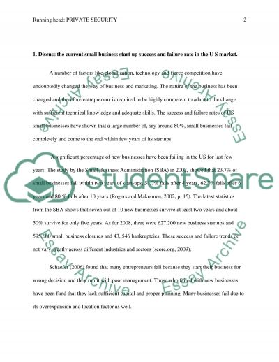 Private security essay example