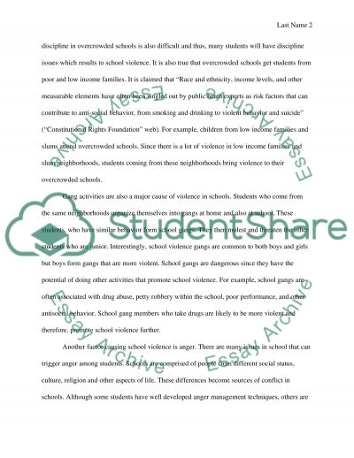 Causes of School Violence essay example