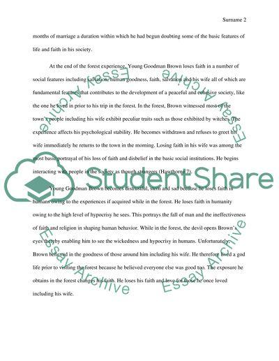 English 101 Young Goodman Paper