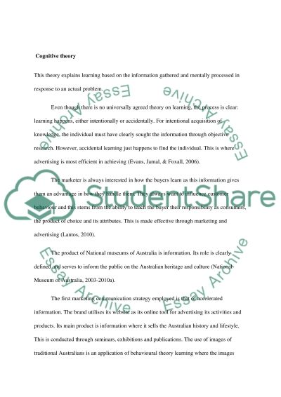 Define Learning From the Perspective of Consumer Behaviour Theory essay example