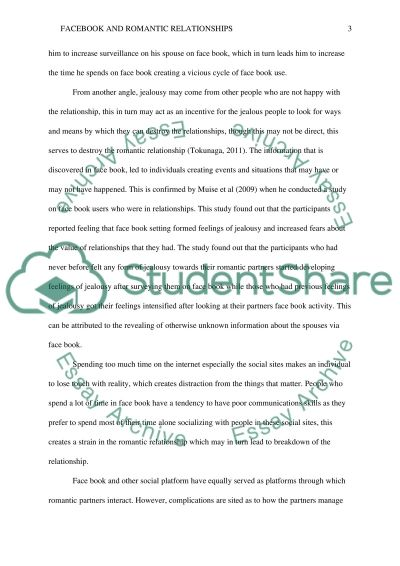 FACEBOOK AND ROMANTIC RELATIONSHIPS essay example
