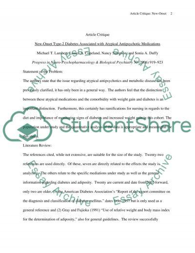 Quantitative research critique essay example