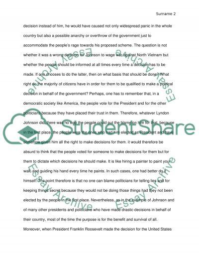 Morality essay example