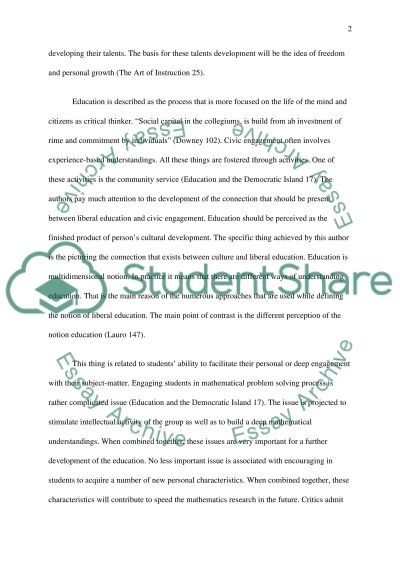 The purpose of Education Essay example