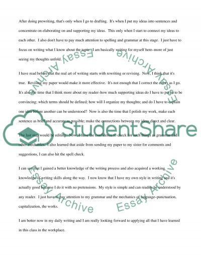 Exit letter essay example