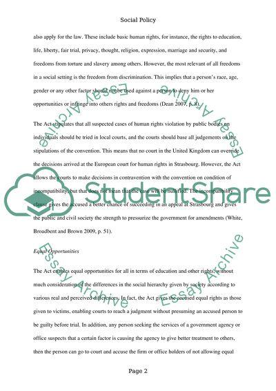 Social Policy: Social Welfare Student
