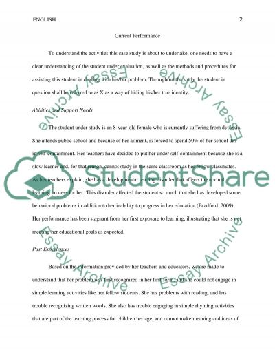 Special Education Case Study