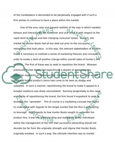Re-Branding essay example