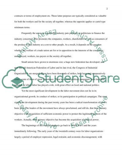 Trade Union essay example