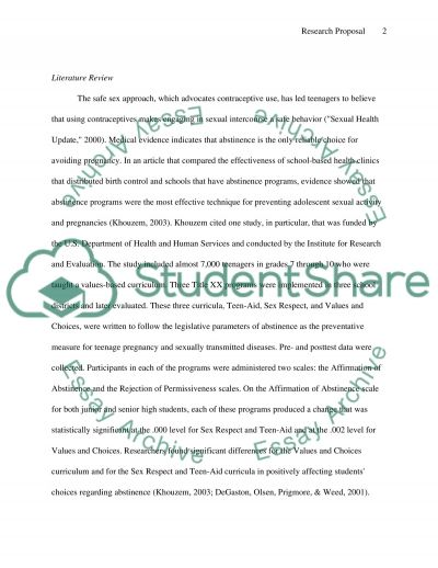 How effective are Abstinence Programs essay example