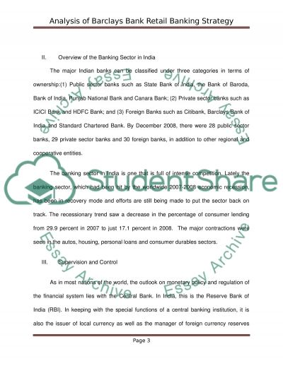 analysis of barclays bank essay