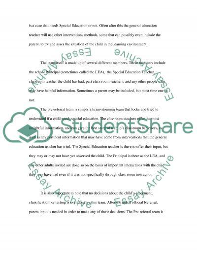 Special Education Essay essay example