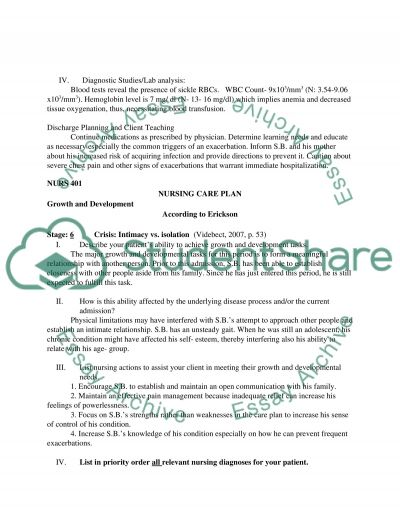 Care Plan. 745769 essay example