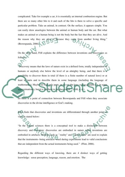 Invention and Discovery essay example