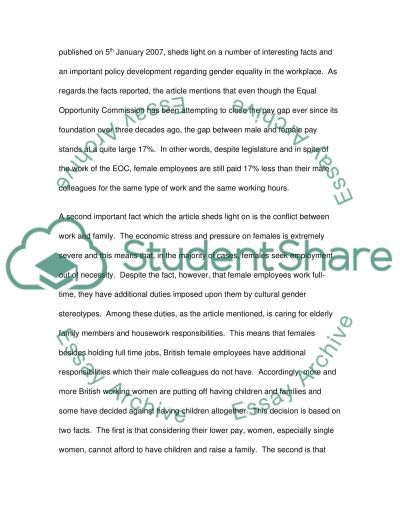 Equalizing Opportunity Essay example