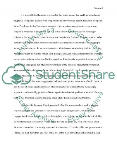 Islam Essay essay example