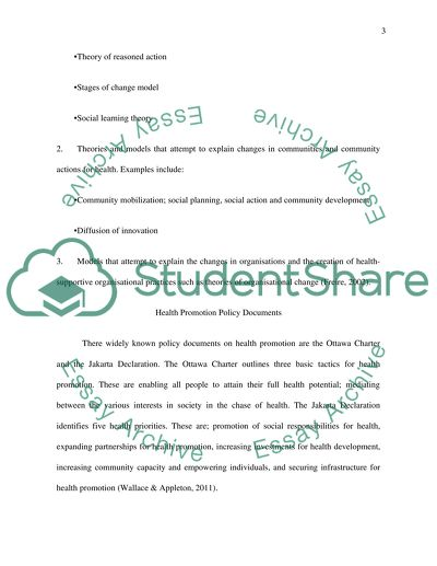 Nursing  Health Promotion Essay Example  Topics And Well Written  Nursing  Health Promotion