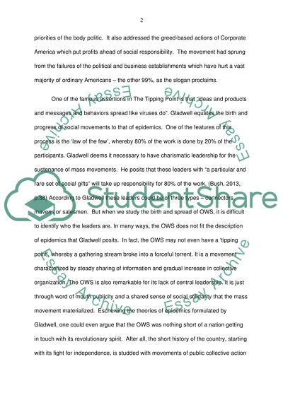 Essay For Students Of High School I Would Like You To Apply The Occupy Movement To Gladwells Ideas And  Philosophy In The Good Proposal Essay Topics also Argument Essay Topics For High School I Would Like You To Apply The Occupy Movement To Gladwells Ideas And  Essay For High School Application
