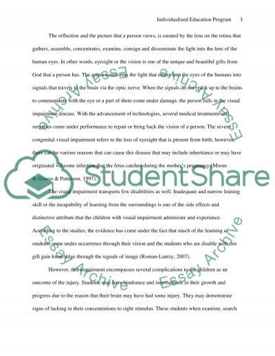 Individualized Education Program essay example