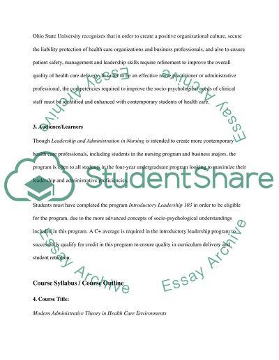 Course Syllabus Essay