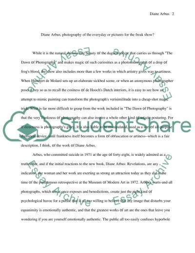 Photography Master Essay essay example