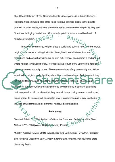 Freedom of Religion Essay Example | Topics and Well Written Essays ...