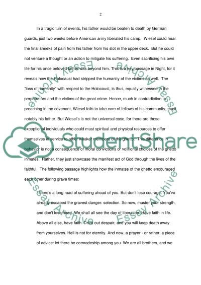 Cultural Essay Analysis Of The Book Night By Elie Wiesel Schindlers List Essay also Euthanasia Against Essay Analysis Of The Book Night By Elie Wiesel Essay Example  Topics And  An Essay On Child Labour