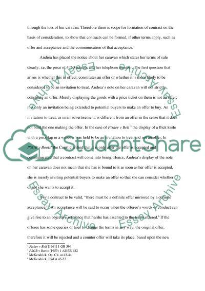 Contract Scenario essay example