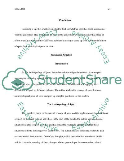 Summarizing 3 Articles in 3 Essays