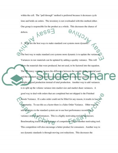 Redesigning Cost Systems essay example