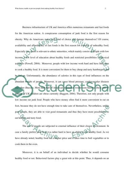 Essay On The Teacher What Factors Enable Or Prevent People From Making Healthy Food Choices Essays On The Holocaust also Immigration Essay What Factors Enable Or Prevent People From Making Healthy Food  Argumentive Essay Examples