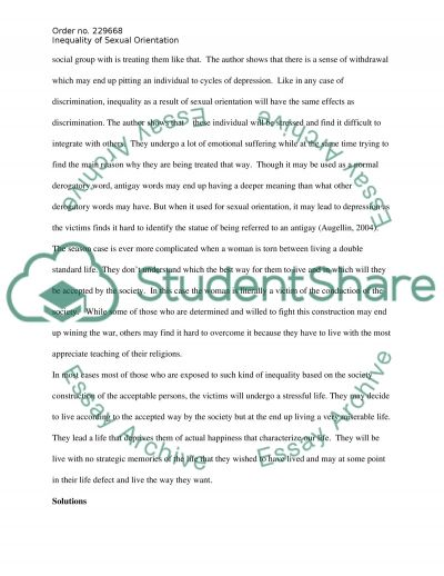 inequality of sexual orientation essay example topics and well  inequality of sexual orientation essay example text preview