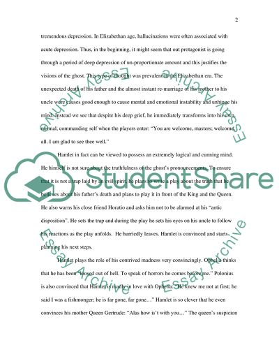 is hamlet sane or insane essay
