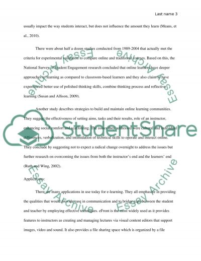 Online learning and cultural issues essay example